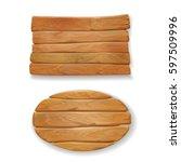wooden old board vector... | Shutterstock .eps vector #597509996