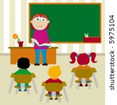 elementary class teacher to... | Shutterstock .eps vector #5975104