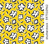summer seamless pattern with... | Shutterstock .eps vector #597510962