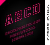 sport font. vector alphabet... | Shutterstock .eps vector #597518192