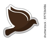 cute bird isolated icon vector... | Shutterstock .eps vector #597536486