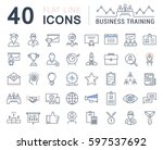 set  line icons in flat design... | Shutterstock . vector #597537692