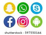 valencia  spain   march 09 ... | Shutterstock . vector #597550166
