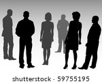 drawing silhouettes of people... | Shutterstock . vector #59755195