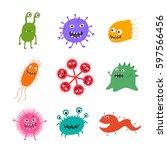 Cartoon Virus Character Vector...