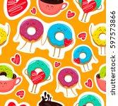 Funny Cartoon Donut Characters...