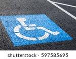 Handicapped Parking Spot  Blue...