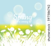 Greeting Card Spring Backgroun...