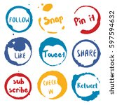 call to action collection of... | Shutterstock .eps vector #597594632