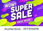 super sale banner design.vector ...   Shutterstock .eps vector #597594698