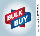 bulk buy arrow tag sign. | Shutterstock .eps vector #597595526
