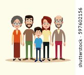 family togetherness happy image | Shutterstock .eps vector #597602156