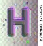 alphabet h template design | Shutterstock .eps vector #597621068