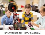 education  children  technology ... | Shutterstock . vector #597623582
