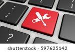 computer repair service concept ... | Shutterstock . vector #597625142