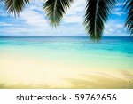 beach under palms | Shutterstock . vector #59762656