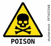 poison sign | Shutterstock .eps vector #597652568