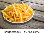 french fries. | Shutterstock . vector #597661592
