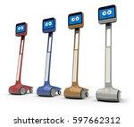 telepresence robot isolated on...   Shutterstock . vector #597662312