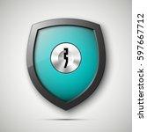 design shield   keyhole.... | Shutterstock .eps vector #597667712