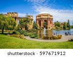 palace of fine arts san... | Shutterstock . vector #597671912