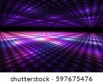 abstract colorful dance floor... | Shutterstock . vector #597675476
