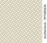 japanese gold background and... | Shutterstock .eps vector #597683636