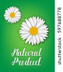 natural product. chamomile.... | Shutterstock .eps vector #597688778
