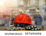 safety standard set  on working ... | Shutterstock . vector #597694496