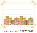 line paper template with... | Shutterstock .eps vector #597702482