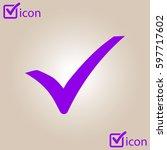 check mark icon. flat design...