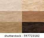 set of vector wooden textures.... | Shutterstock .eps vector #597723182
