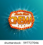 movie time cinema premiere... | Shutterstock .eps vector #597727046