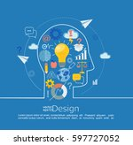 concept of big ideas... | Shutterstock .eps vector #597727052