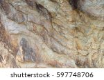abstract rock formation... | Shutterstock . vector #597748706