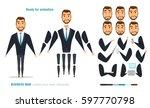 businessman character animation ... | Shutterstock .eps vector #597770798