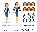 businesswoman character... | Shutterstock .eps vector #597770816