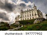 scottish medieval castle.... | Shutterstock . vector #597777902