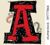 hand drawn alphabet  doodle a | Shutterstock .eps vector #59777866