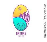 vector logo of nature on white... | Shutterstock .eps vector #597791462