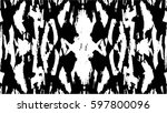 grunge black and white urban... | Shutterstock .eps vector #597800096