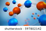 3d illustration of molecule... | Shutterstock . vector #597802142