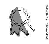 award ribbon isolated icon... | Shutterstock .eps vector #597807842