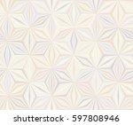 seamless geometrical beige... | Shutterstock .eps vector #597808946