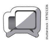 grayscale square chat bubbles...