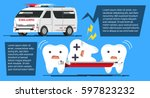 problem of dental disease.... | Shutterstock .eps vector #597823232