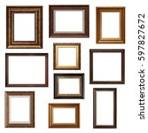 set of picture frames. collage... | Shutterstock . vector #597827672