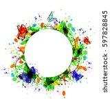 abstract vector illustration... | Shutterstock .eps vector #597828845