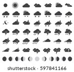weather icons set for weather... | Shutterstock .eps vector #597841166