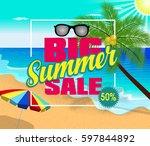 summer sale design template...   Shutterstock .eps vector #597844892